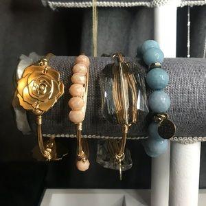 Gold Bourbon & Bowtie Bracelets